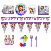 Sofia Doğum Günü Parti Seti 8 Kişilik Lüx