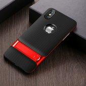 Iphone X Kırmızı Stantlı Kılıf