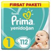 Prima Yenidoğan Bebek Bezi 1 Beden 112 Adet Fırsat Paket