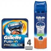 Gillette Fusion Proglide Yedek Tıraş Bıçağı 4'lü Traş Jeli Hediyeli