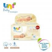 Uni Baby Yenidoğan Islak Pamuk Mendil 3'lü 3x40