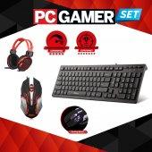 Bilgisayar Ekipman Seti Ledli Klavye+gaming Mouse+kulaklık