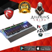 Assassins Gk6 Mechanical Klavye Metal Panel Mavi Switch