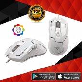 Tigoes Ledli Gaming Oyuncu Mouse Beyaz M50