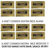 Cosmos Prezervatif Ekstra İnce 12li 6+6 Dev Kampanya