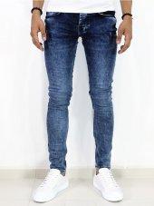 Erkek Kot Pantolon Slimfit Düz Mavi Azot Jean