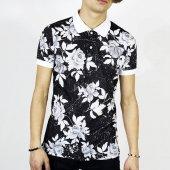 Bpm Tişört Polo Yaka Gül Baskı Erkek T Shirt