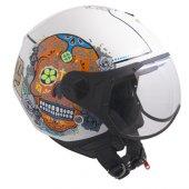 Açık Motosiklet Kaskı Cgm 107s Cancun Sagomato Beyaz Renk
