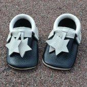 Yıldız Makosen Bebek Ayakkabı Siyah Bej Cv 214