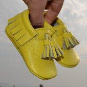 Corcik Makosen Bebek Ayakkabı Sarı Cv 229