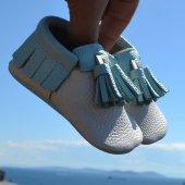 Corcik Makosen Bebek Ayakkabı Bej Mint Cv 363