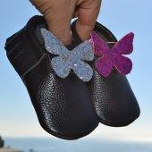 çıt Çıtlı Makosen Bebek Ayakkabı Siyah Cv 388