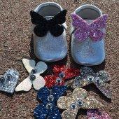 çıt Çıtlı Makosen Bebek Ayakkabı Gümüş Cv 401