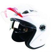 Motorsiklet Kaskı Yazlık Kask Güneş Vizörlü Açık Kask