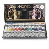 Maries Yağlı Boya 12 Renk Tüp X 12ml.