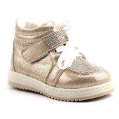 Alens 555 Günlük Cırtlı Önü Taşlı Bebe Kız Çocuk Bot Ayakkabı