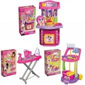 Minnie Mouse Oyun Seti Şef Mutfak Temizlik Ütü Seti