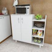 Arnetti Three Çok Amaçlı Mutfak Dolabı Beyaz