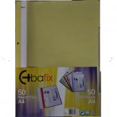 Bafix Telli Dosya Plastik A 4 Sarı 66727 50 Li (1 Paket 50 Adet)