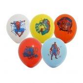 Spiderman R Mcek Adam Bask L 10 Adet Balon