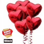 Kalp K Rm Z Folyo U An Balon 18 İn