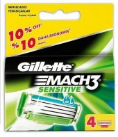 Gillette Mach3 Bıçak Sensitive Yedek Tıraş Bıçağı 4 Lü
