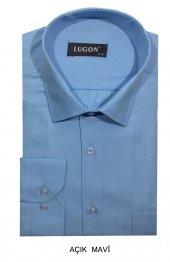 Lugon Uzun Kısa Kol Klasik Erkek Gömlek 12 Farklı Renk