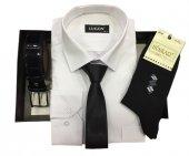 Lugon Gömlek+kravat+çorap+kemer Kutu Set 12