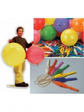 Lastikli Punc Balon 10 Adet