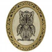Lazer İşlemeli Baykuş Figürü Kod 002