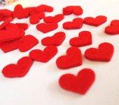 Keçe Küçük Kalpler 100 Adetli 2 Cm
