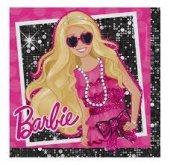 Barbie Siyah Kağıt Peçete 33x33 Cm 16 Adetli