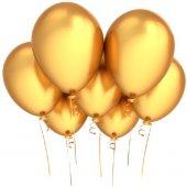 Balon Metalik Gold Baskısızı 12 İnç Balonevi 10 Adetli