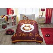 Taç Lisanslı Yatak Örtü Seti Tek Kişilik Galatasaray Logo