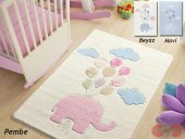 Confetti Sweet Elephant Oymalı Çocuk Bebek Odası Halısı