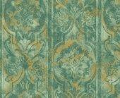 Indigo 4713 3 Yeşil Damask Desenli Duvar Kağıdı