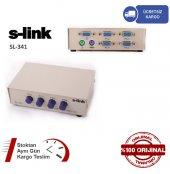 S Lınk Sl 341 4 Port Vga+ps2 1,8 M M M Kablolu Manuel Kvm Switch