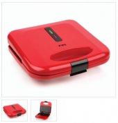King K 642 Gurme Mini Tost Makinesi Kırmızı