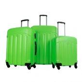 Benetton 3lü Büyük Orta Ve Kabin Boy Yeşil Valiz Seti 0179