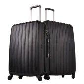 Ground 2li Valiz Büyük Ve Orta Boy Kırılmaz Bavul Siyah 10522