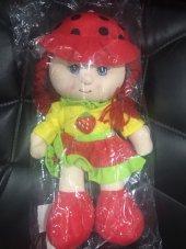 Peluş Bebek Kırmızı Geleneksel Elbiseli