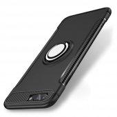 Iphone 7 Plus 8 Plus Mıknatıslı Yüzüklü Ultra Koruma Kılıf