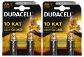 Duracell Aa Kalem Pil 2 Li 2 Paket (4 Adet)