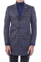 Ekose Füme Kısa Palto