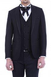 Ceket Desenli Yelekli K.siyah Damatlık