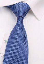 Mavi Nokta Desen Slim Kravat 6511