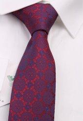 Kırmızı Motif Desen Slim Kravat 6517