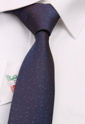Kahverengi Nokta Desen Slim Kravat 6580