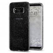 Galaxy S8 Plus Kılıf, Spigen Liquid Crystal Glitter Space Quartz Siyah