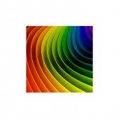 Renkli Çizgiler Bulaşık Makinesi Sticker